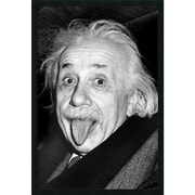 "Amanti Art ""Albert Einstein - Funny Face"" Framed Print Art, 37.38"" x 25.38"""