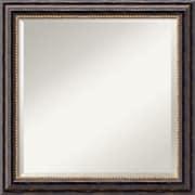 "Amanti Art 24"" x 24"" Tuscan Square Wall Mirror, Black"