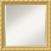 "Amanti Art 23.88"" x 23.88"" Versailles Square Wall Mirror, Antique Gold"