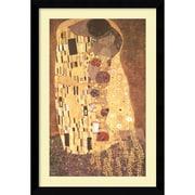 "Amanti Art Gustav Klimt ""The Kiss (Le Baiser/Il Baccio), 1907"" Framed Print Art, 38.62"" x 26.62"""