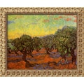 Amanti Art Vincent Van Gogh in.Olive Grove (L'Uliveto)in. Framed Art, 19 1/2in. x 23 1/2in.