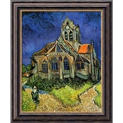 "Amanti Art Vincent Van Gogh ""The Church at Auvers, 1890"" Framed Art, 24"" x 20"""
