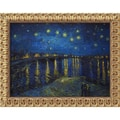 Amanti Art Vincent Van Gogh in.Starlight Over the Rhonein. Framed Art, 19 1/2in. x 23 1/2in.