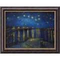 Amanti Art Vincent Van Gogh in.Starlight Over the Rhonein. Framed Art, 204in. x 24in.