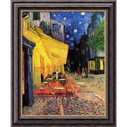 "Amanti Art Vincent Van Gogh ""Cafe Terrace At Night, 1888"" Framed Art, 24"" x 20"""