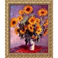 Amanti Art Claude Monet in.Sunflowers, 1881in. Framed Art, 23 1/2in. x 19 1/2in.