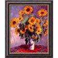 Amanti Art Claude Monet in.Sunflowers, 1881in. Framed Art, 24in. x 20in.