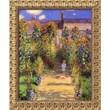 """Amanti Art Claude Monet """"The Artist's Garden at Vetheuil, 1880"""" Framed Art, 23 1/2"""" x 19 1/2"""""""
