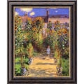Amanti Art Claude Monet in.The Artist's Garden at Vetheuil, 1880in. Framed Art, 24in. x 20in.