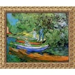 Amanti Art Vincent Van Gogh in.Bank of the Oise at Auvers, 1890in. Framed Art, 19 1/2in. x 23 1/2in.