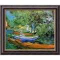 Amanti Art Vincent Van Gogh in.Bank of the Oise at Auvers, 1890in. Framed Print Art, 24in. x 20in.