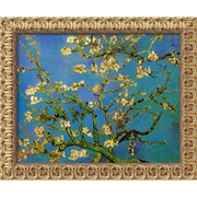 """Amanti Art Vincent Van Gogh """"Almond Branches in Bloom, San Remy 1890"""" Framed Art, 19 1/2"""" x 23 1/2"""""""