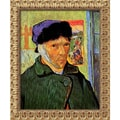 Amanti Art Vincent Van Gogh in.Self Portrait With Bandaged Ear, 1889in. Framed Art, 23 1/2in. x 19 1/2in.