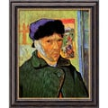 Amanti Art Vincent Van Gogh in.Self Portrait With Bandaged Ear, 1889in. Framed Art, 24in. x 20in.