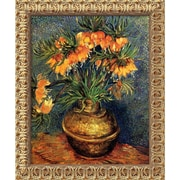 "Amanti Art Van Gogh ""Crown Imperial Fritillaries in a Copper Vase..."" Framed Art, 23 1/2"" x 19 1/2"""
