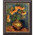 Amanti Art Van Gogh in.Crown Imperial Fritillaries in a Copper Vase, 1886in. Framed Art, 24in. x 20in.