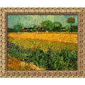 Amanti Art Vincent Van Gogh in.View of Arles With Irises, 1888in. Framed Art,19 1/2in. x 23 1/2in.