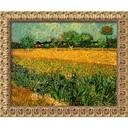 "Amanti Art Vincent Van Gogh ""View of Arles With Irises, 1888"" Framed Art,19 1/2"" x 23 1/2"""