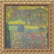 Amanti Art Gustav Klimt Country House At Attersee Framed Canvas Art, 19 1/2 x 19 1/2