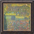 Amanti Art Gustav Klimt in.Country House At Atterseein. Framed Canvas Art, 20in. x 20in.