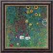 Amanti Art Gustav Klimt in.Farm Garden With Sunflowers, c.1906in. Framed Canvas Art, 20in. x 20in.