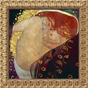 Amanti Art Gustav Klimt Danae Framed Canvas Art, 19 1/2 x 19 1/2