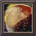 Amanti Art Gustav Klimt in.Danaein. Framed Canvas Art, 20in. x 20in.