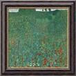 "Amanti Art Gustav Klimt ""Field Of Poppies (Campo di Papaveri)"" Framed Canvas Art, 20"" x 20"""