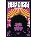 Amanti Art in.Jimi Hendrix: Montagein. Framed Print Art, 37.38in. x 25.38in.