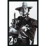 "Amanti Art ""Clint Eastwood"" Framed Art, 37.38"" x 25.38"""