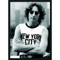Amanti Art in.John Lennon - NYCin. Framed Print Art, 37.38in. x 25.38in.