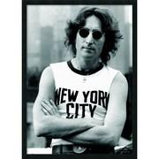 """Amanti Art """"John Lennon - NYC"""" Framed Print Art, 37.38"""" x 25.38"""""""