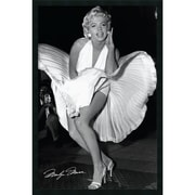 "Amanti Art Matthew Zimmerman ""Marilyn in New York, 1954"" Framed Print Art, 37.38"" x 25.38"""