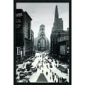 Amanti Art in.Times Squarein. Framed Print Art, 37.38in. x 25.38in.