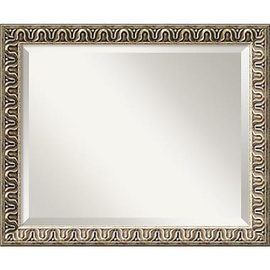 Amanti Art 22.88in. x 18.88in. Argento Medium Wall Mirror, Champagne