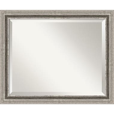 Amanti Art 22.88in. x 18.88in. Bel Volto Medium Wall Mirror, Burnished Pewter