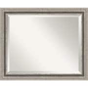 Amanti Art 22.88 x 18.88 Bel Volto Medium Wall Mirror, Burnished Pewter