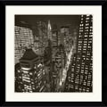 Amanti Art Michael Kenna in.East 40th Street, NY 2006in. Framed Print Art, 32.62in. x 32.62in.