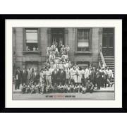 """Amanti Art Art Kane """"Jazz Portrait- Harlem, 1958"""" Framed Print Art, 32.62"""" x 40.88"""""""
