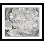 Amanti Art Georgia O'Keeffe The White Calico Flower, 1931 Framed Art, 33.38 x 38.38