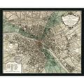 Amanti Art in.Plan de Parisin. Framed Print Art, 33.62in. x 41.5in.