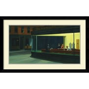 "Amanti Art Edward Hopper ""Nighthawks, 1942"" Framed Art, 26.88"" x 42.38"""