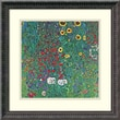 Amanti Art Gustav Klimt in.Farm Garden With Sunflowers, c.1906in. Framed Print Art, 18 1/4in. x 18 1/4in.