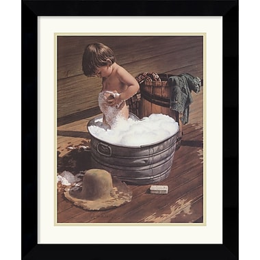 Amanti Art Jim Daly in.Saturday Nightin. Framed Print Art, 26.12in. x 21.88in.