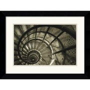 "Amanti Art Christian Peacock ""Spiral Staircase in Arc de Triomphe"" Framed Print Art, 19.62"" x 25.5"""