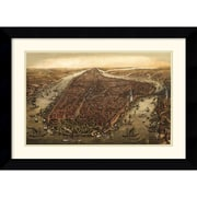 "Amanti Art Ward Maps ""New York, 1873"" Framed Print Art, 20.62"" x 27.88"""