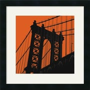 Amanti Art Erin Clark Orange Manhattan Framed Art, 18 x 18