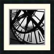 "Amanti Art Tom Artin ""Orsay Clock"" Framed Print Art, 18"" x 18"""