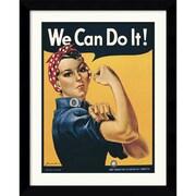 "Amanti Art Howard Miller ""Rosie The Riveter (""We Can Do It!"")"" Framed Print Art, 30.62"" x 24.62"""
