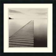 "Amanti Art Michael Kenna ""Plank Walk, Morecambe, Lancashire, England..."" Framed Print Art, 20"" x 20"""